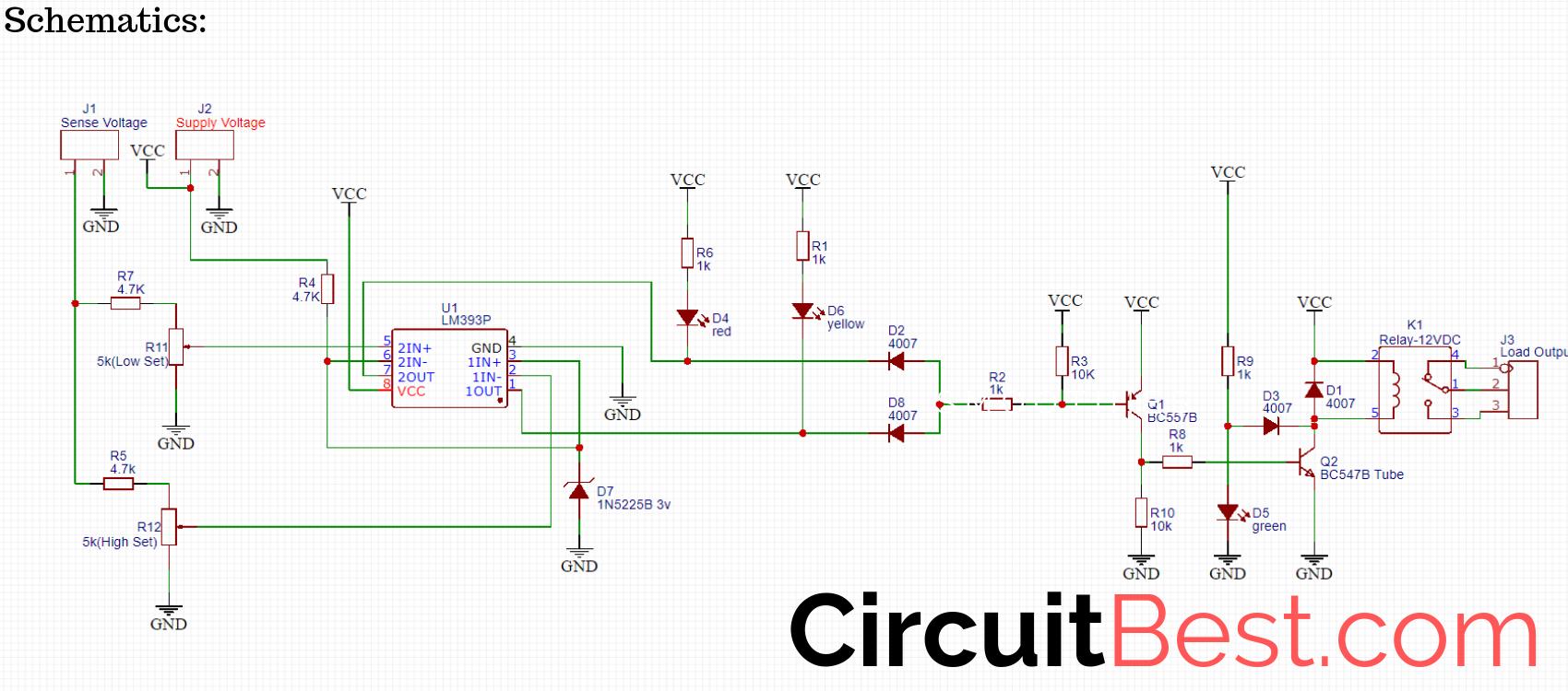 Over voltage and Under Voltage Protection schematics ...