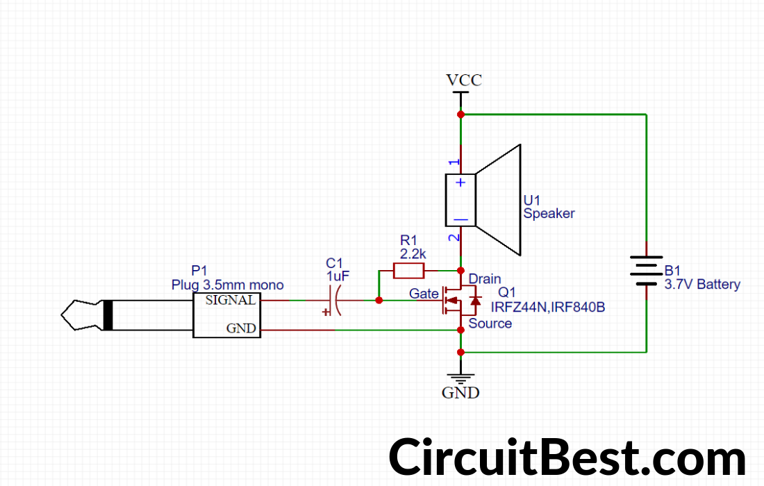 Simple Basic audio Amplifier - CircuitBestCircuitBest