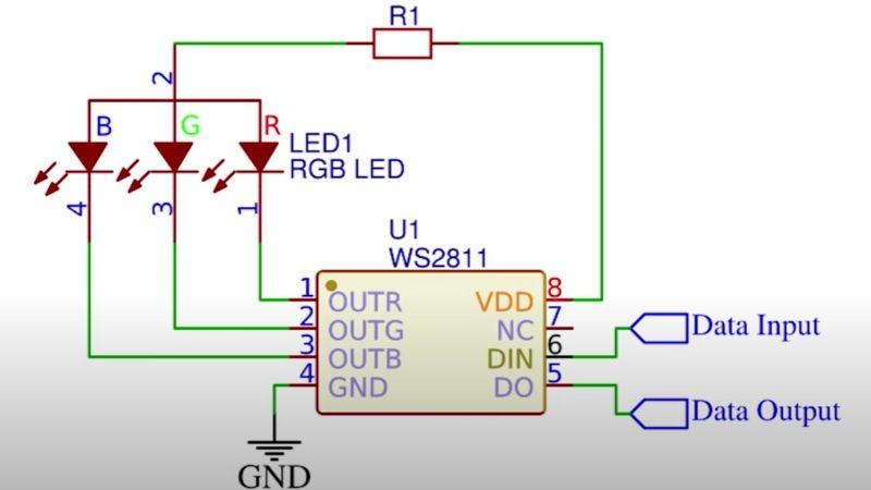 led internal diagram