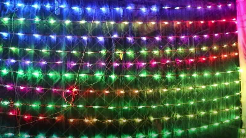 LED connection in zigzag