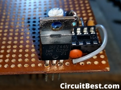IRFZ44N Mosfet Connection with PCB
