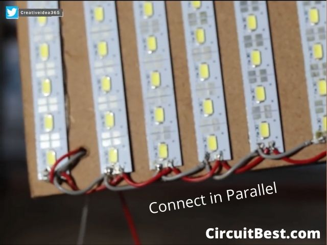 Connect the LEDs in Parallel