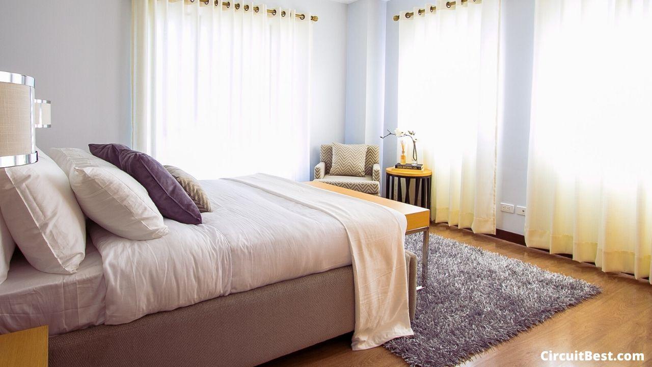 well organised bedroom