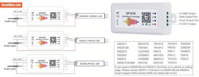 SP107E Pinout and connection
