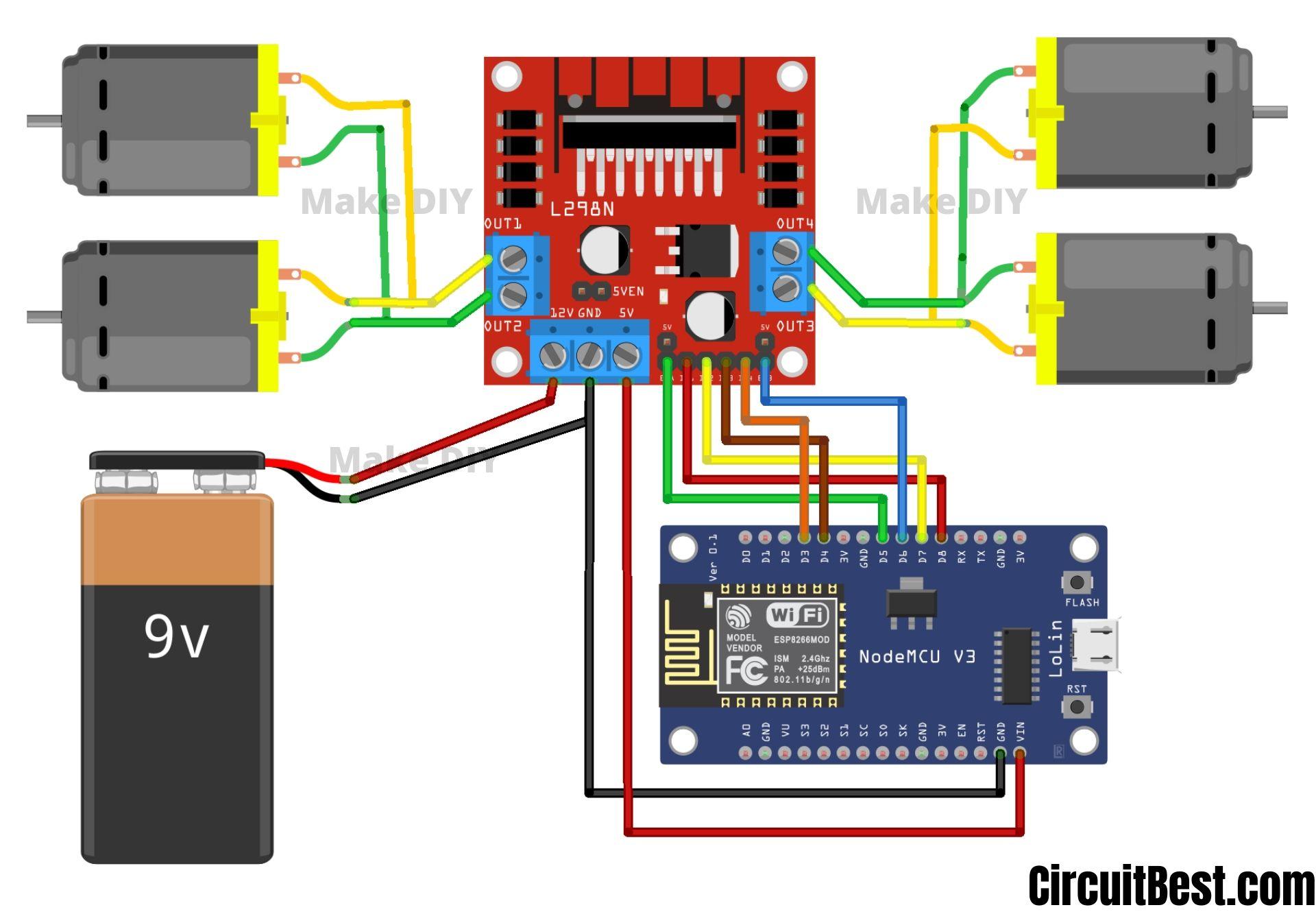 remote control car schematic