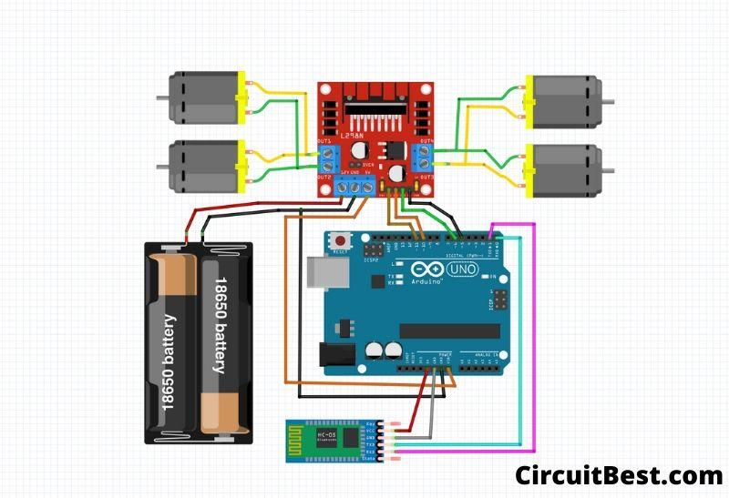 smartphone controlled Arduino Bluetooth car code.