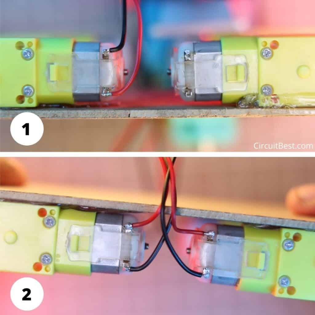 arduino bluetooth car l293d Motor wiring