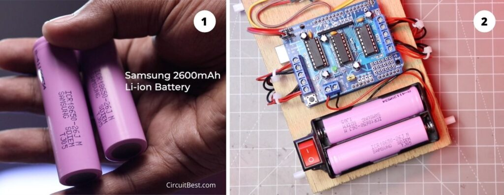 Battery connection with the Bluetooth car
